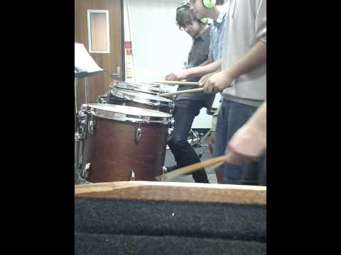 'Etna' Paint Drumming rehearsal video